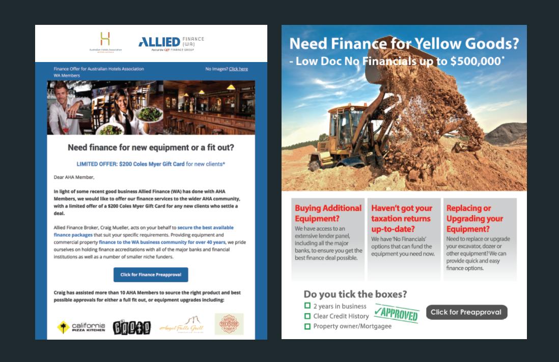 Vendor Partnerships - Allied Finance (WA)